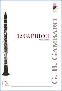 12 CAPRICCI PER CLARINETTO edizioni_eufonia