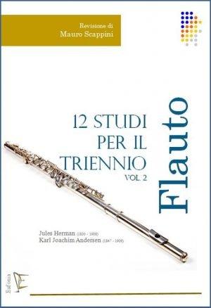 12 STUDI PER IL TRIENNIO DI FLAUTO - VOL. 2. edizioni_eufonia