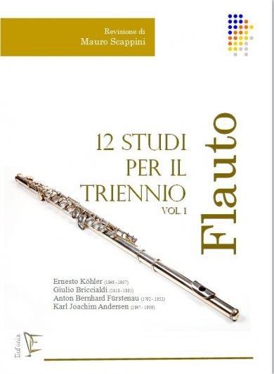12 STUDI PER IL TRIENNIO DI FLAUTO - VOL. 1. edizioni_eufonia