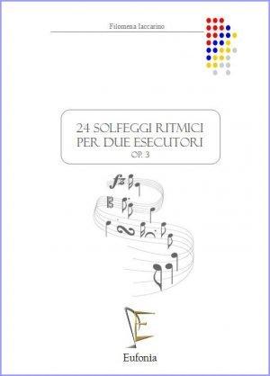 24 SOLFEGGI RITMICI PER 2 ESECUTORI edizioni_eufonia