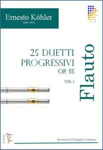 25 DUETTI PROGRESSIVI OP. 55 PER FLAUTO VOL.1 edizioni_eufonia