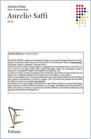 AURELIO SAFFFI edizioni_eufonia