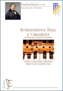 INTRODUZIONE TEMA E VARIAZIONI PER CLARINETTO E PIANOFORTE edizioni_eufonia