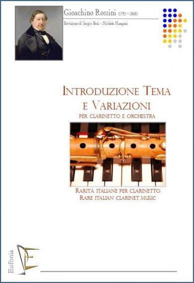 INTRODUZIONE TEMA E VARIAZIONI PER CLARINETTO E ORCHESTRA edizioni_eufonia